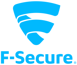 f secure logo blue